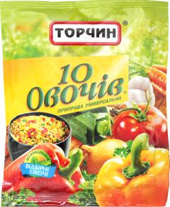 Приправа Торчин 10 овочів універсальна 60г х20
