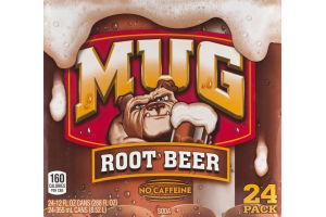 Mug Root Beer Soda - 24 PK