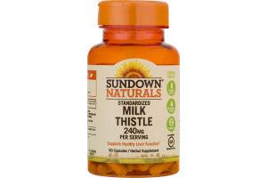 Sundown Naturals Standardized milk Thistle 240mg - 60 CT