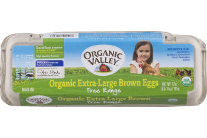 Organic Valley Extra-Large Brown Eggs Free Range Grade A - 12 CT