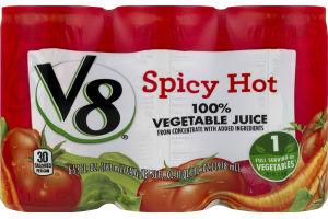 V8 100% Vegetable Juice Spicy Hot - 6 PK