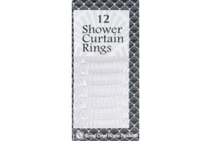 Royal Crest Shower Curtain Rings Clear - 12 CT