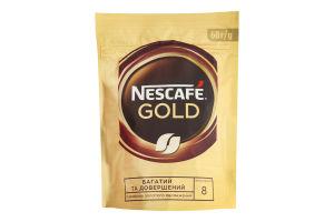 Кава натуральна розчинна сублімована з додаванням натуральної обсмаженої меленої Gold Nescafe д/п 60г