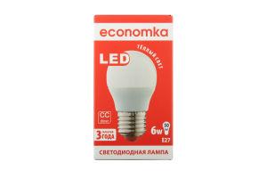 Лампа світлодіодна Economka LED G45 6W E27 2800K 1шт