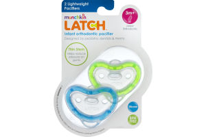 Munchkin Latch Infant Orthodontic Pacifier Lightweight - 2 PK