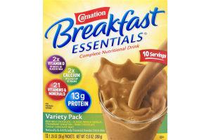 Carnation Breakfast Essentials Complete Nutrition Drink Variety Pack - 10 PK