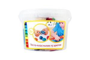Набор для творчества для детей от 3лет №TA1066V Тесто-пластилин 15 цветов Genio Kids 1шт
