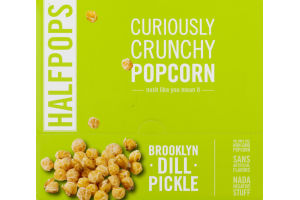 Halfpops Curiously Crunchy Popcorn Brooklyn Dill Pickle - 15 CT