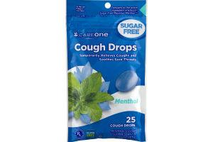 CareOne Cough Drops Menthol Sugar Free - 25 CT