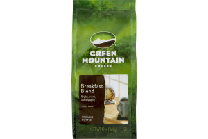 Green Mountain Coffee Light Roast Ground Coffee Breakfast Blend