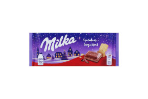 Шоколад молочний з молочною начинкою з какао та печивом з імбиром, гвоздикою і корицею Milka м/у 100г
