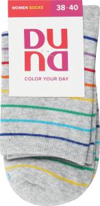 Дюна шкарпетки жіночі 8010, р.23-25 світло-сірі смужка
