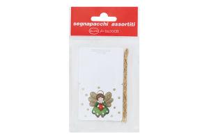 Набор мини-открыток с золотыми шнурами к подарку №GTX20522 Happycom 6шт