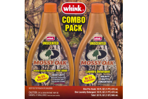 Whink Combo Pack Unscented Mossy Oak Game Stain Remover Pre-Soak Laundry Detergent - 2 CT