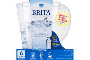 Brita Water Filtration Pitcher 6 Cup Capacity