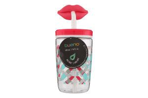 Склянка дитяча з трубочкою 0,47 л, Рожевий з червоним, Contigo FUNNY STRAW06800370