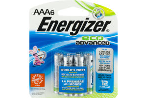 Energizer Eco Advanced AAA Batteries - 6 CT