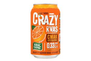 Квас со вкусом апельсина Crazy Kvas Квас Тарас ж/б 0.33л