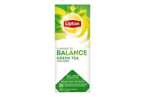 Чай зеленый байховый в пакетиках Lipton к/у 25х1.3г