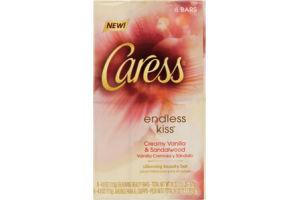 Caress Endless Kiss Creamy Vanilla & Sandalwood Silkening Beauty Bar - 6 CT