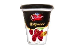 Йогурт Десертний Спокуса 2,5% вишня Дольче стаканчик 300г