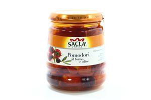 Томати-гриль Sacla з оливками в олії 285г