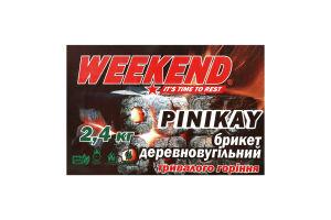 Брикет деревновугільний Pinikay Weekend 2.4кг