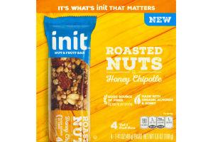 Init Nut & Fruit Bar Roasted Nuts & Honey Chipotle - 4 CT
