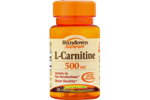 Sundown Naturals L-Carnitine 500 mg Dietary Supplement Tablets - 30 CT
