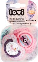 Пустушка для дівчаток від 0 до 3міс силіконова динамічна №22/855 Indian Summer Lovi 2шт