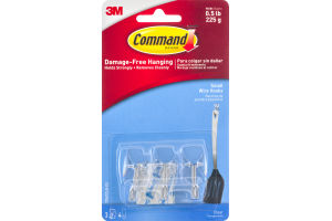 Command Damage-Free Hanging Small Wire Hooks - 3 CT