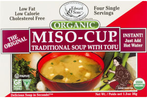 Edward & Sons Miso-Cup Organic Traditional Soup with Tofu - 4 CT