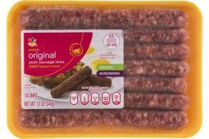 Ahold Pork Sausage Links Original - 14 Links