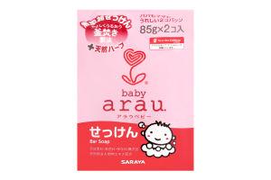 Кускове мило для купання малюків Arau Baby Bar Soap 85 гр x 2 шт