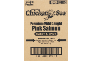 Chicken Of The Sea Premium Wild Caught Pink Salmon Sweet & Spicy - 12 CT