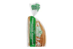 Хліб подільський пшеничний подовий половинка в нарізці Теремно м/у 0.35кг