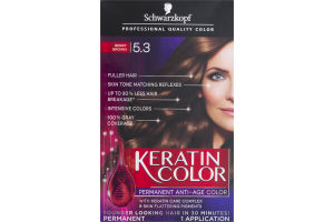 Schwarzkopf Keratin Color Permanent Anti-Age Hair Color 5.3 Berry Brown