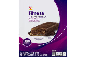 Ahold Fitness High Protein Bar Double Chocolate - 12 CT