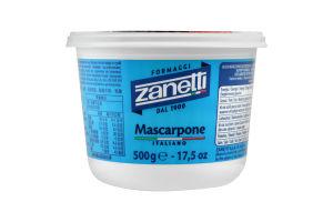 Сыр 80% мягкий кремообразный Mascarpone Italiano Zanetti ст 500г