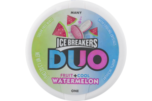 ICE BREAKERS DUO Watermelon Flavored Mints, 1.3-Ounce containers