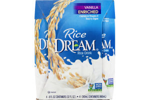 Rice Dream Rice Drink Enriched Vanilla - 4 CT