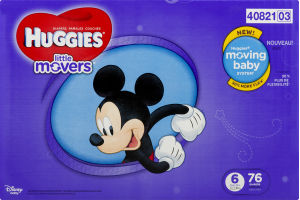 Huggies Little Movers Diapers Size 6 - 76 CT