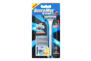 Система для гоління з 4 картриджами Swift 3 Super-Max 1шт
