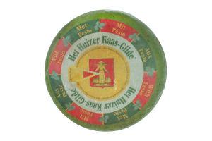 Сыр 50% зеленый Песто Гауда Huizer Kaas-Gilde кг