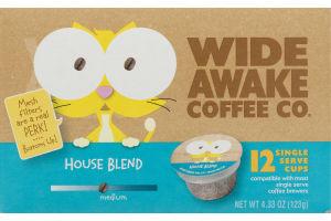 Wide Awake Coffee Co. Single Serve Cups House Blend - 12 CT