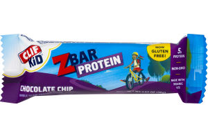 Clif Kid Z Bar Protein Whole Grain Snack Chocolate Chip