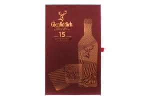 Набір віскі 0.7л 40% односолодовий 15 років+2 стакана Glenfiddich