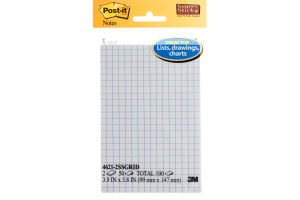 Post-it Notes Grids Super Sticky - 2 PK