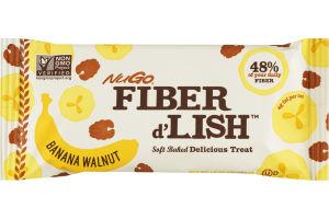 NuGo Fiber d'Lish Soft Baked Delicious Treat Banana Walnut Bar