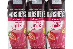 Hershey's 2% Reduced Fat Milk Strawberry - 3 CT